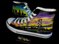 zapatillas-pintadas-mano-alpartgata (2) Converse Chuck Taylor High, Converse High, High Top Sneakers, Chuck Taylors High Top, High Tops, Shoes, Fashion, Painted Sneakers, Image Search