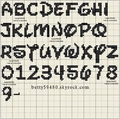 alphabet - broderie - cross stitch - Point de croix - Blog : http://broderiemimie44.canalblog.com/