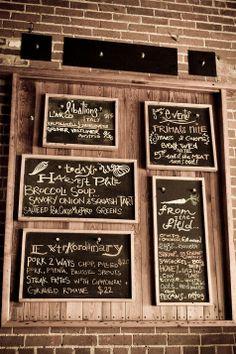 blackboard menus grouped together
