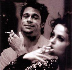 Fight Club - Tyler Durden and Marla Singer Fight Club 1999, Fight Club Rules, Brad Pitt, Tyler Durden, David Fincher, Love Movie, Movie Tv, Badass Movie, 90s Movies