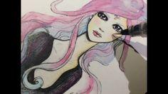 El uso del pincel Wink of Stella Brush - marca ZIG Memory System Wink Of Stella, Journal Pages, Art Journaling, Cinderella, Disney Characters, Fictional Characters, Mixed Media, Aurora Sleeping Beauty, Scrapbook
