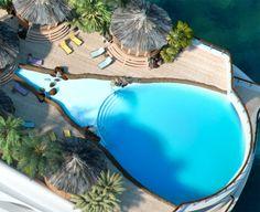 The Tropical Island Paradise has a pool like this. ( photo: yachtislanddesign.com)