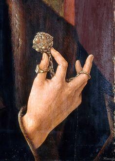 Portrait of Jan Gerritsz. van Egmond (detail), by Jacob Cornelis van Oostsanen (Dutch, 1470-1533)