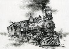 Spirit Of Steam Drawing  - Spirit Of Steam Fine Art Print