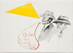 Untitled (Oh, Here Is This Fucking Yellow Triangle Again!) by Pavel Pepperstein, 2012