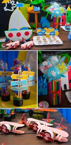 Festa infantil no tema da música Aquarela do Toquinho - Decoração por Renata Mello