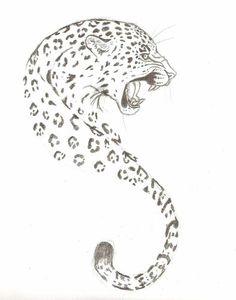 jaguar tattoo design by singsilver traditional art drawings animals . Leopard Tattoos, Snow Leopard Tattoo, Jaguar Tattoo, Big Cat Tattoo, Tiger Tattoo, Head Tattoos, Music Tattoos, Tatoos, Large Tattoos