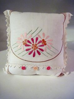 Handmade Pillow Upcycled from Vintage by RedesigningVintage