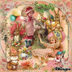 Vintage Children And Easter Bunnies/ animated   http://bln.gs/b/27xhmt