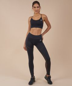 f2fb3876ff1f7 Gymshark Simply Mesh Leggings - Black | Gymshark Mesh Leggings, Gym Leggings,  Workout Leggings