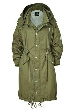 Military Green Oversized Parka by MCQ ALEXANDER MCQUEEN