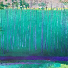 Green Wood, 1985, by Wolf Kahn