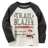 This little lumberjack is ready to trailblaze his way through the cold weather! Pair this raglan thermal with an unbuttoned flannel and denim for a cute woodsy look.<br>