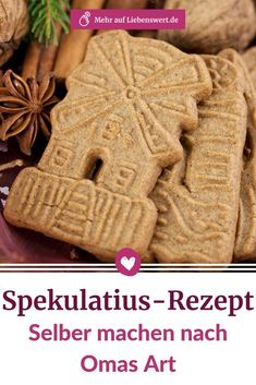 Spekulatius-Rezept: Selber machen nach Omas Art Cinnamon, cardamom, cloves – these Christmas flavors conjure up wonderful speculoos from simple shortcrust German Christmas, Cozy Christmas, Christmas Food Gifts, Christmas Cookies, Speculoos Recipe, Foods That Contain Protein, Light Snacks, Shortcrust Pastry, Evening Meals
