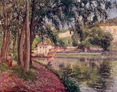 Camille Pissarro.  Treidelweg. 1902, Öl auf Leinwand. Paris, Musée d'Orsay. Frankreich. Impressionismus.  KO 01884