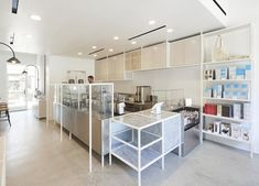 Blue Bottle Coffee, Century City by wrk-shp Restaurant Design, Restaurant Bar, Cafe Design, Interior Design, Blue Cafe, Blue Bottle Coffee, Architect Magazine, Shop Interiors, Minimalist