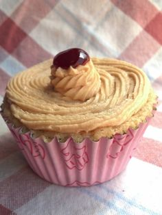 It's Peanut Butter Jelly Time!  PB Cupcakes - Oh so good.