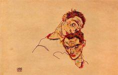 Egon Schiele, Double Self-Portrait, 1915