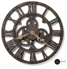 Howard Miller Wall Clock | ALLENTOWN - rustic - clocks - by Interior Clue