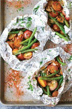 50+ best foil packet dinner recipe ideas Healthy Recipes, Mexican Food Recipes, Dinner Recipes, Cooking Recipes, Healthy Food, Healthy Meals, Delicious Recipes, Dessert Recipes, Best Camping Meals