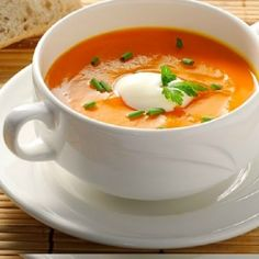 Serve this simple Roasted Red Pepper Soup with crusty bread and a simple green salad for a quick lunch or as a regular soup for dinner.