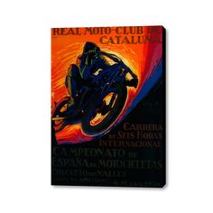 "Real Moto Club de Cataluña (20"" x 16"")"