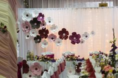 paper flower . Wedding backdrop