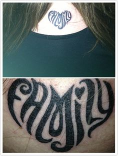 Family Tattoo- white ink would look cool.