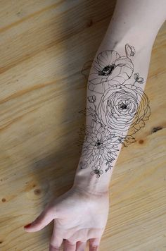 ranunculus tattoo - Google Search