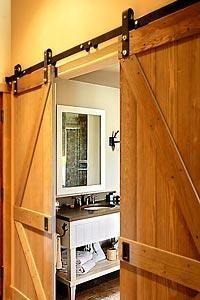 Porte de grange on pinterest barn doors robes and chalets - Rail porte coulissante grange ...