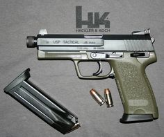 HK USP .45 tACTICAL Find our speedloader now!  www.raeind.com  or  http://www.amazon.com/shops/raeind Shooting Gear, Shooting Sports, Assault Weapon, Assault Rifle, Weapons Guns, Guns And Ammo, Revolver Rifle, Tactical Pistol, Cool Guns