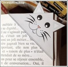 5 Marque page Miaou à imprimer en coin [someone else's caption]