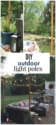 How to plan and hang patio lights patio lighting outdoor living diy outdoor light poles aloadofball Images
