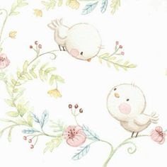 decopodge Nem rhet el lers a fnykphez. Vintage Bird Illustration, Cute Illustration, Bird Nursery, Nursery Art, Cute Animal Drawings, Cute Drawings, Illustration Mignonne, Cute Furniture, Motifs Animal