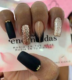Shiny Nails, Black Nails, Nail Art Designs Videos, Nail Designs, Cute Acrylic Nails, Cute Nails, The Claw, Beauty Spa, Perfect Makeup