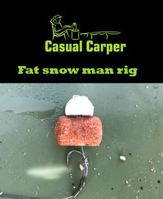 The Casual Carper fat snowman carp rig. Using a sinjing dumbbell and a trimmed pop up you can create this. Makes a different presentation in the water compared to a standard snowman rig.