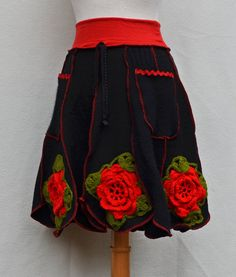 Upcycled Clothing Women's Repurposed Black Wool by MyOlyGirl. , via Etsy.