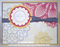 Hello Doily, Delicate Doilies, Happiest Birthday Wishes