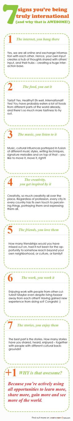 7 signs you're being truly international - and why that is AWESOME! - infographic