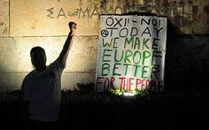 Referendum in Grecia: il grande NO! Il secco NO dei cittadini greci alla politica europea della Germania e dei vertici finanziari internazionali è una risposta politica ad un problema che è politico molto prima che economico, un proble #grecia #referendum