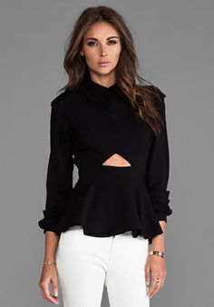 Naven Military Blouse in Black