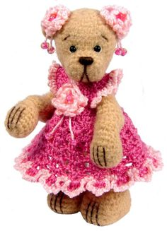Miniature Thread Crochet Dress Pattern for Miniature Bears - PDF Download
