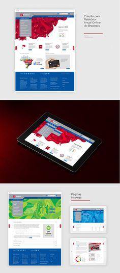 Criação para Relatório Anual Online do Bradesco Diretor de Arte: Fernando Maranho (fernando@pixellab.com.br) Agência: TheMediaGroup