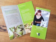 Flyer für eine Tierheilpraktikerin