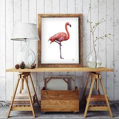 This Pink Flamingo poster is available on our website today! Shop cool animal posters with a 25% discount! 👏🏼🙏 hurry up and be one of the first owners of a Flamingo poster from F[R]AME! ☀️#flamingo #graphicdesign #colors #nordicstyle #decorating #animal