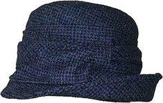 harris tweed bow hat - violet