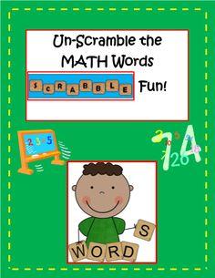 Unscramble the Math Words Activity #editableprintables #freeprintables