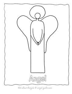 Angel Outline 1 An Angel Template Simplified with Arms