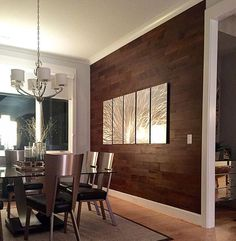 Looking for something a little less rustic and a little more modern? Dining Room Art, Dining Area, Kitchen Dining, Fine Dining, Rustic, Modern, Table, Projects, Furniture