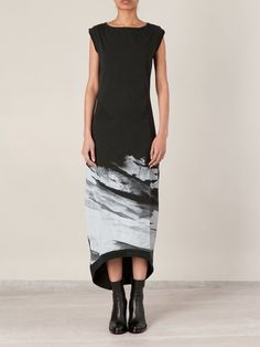 mountain print sleeveless dress